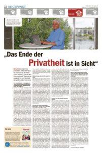 thumbnail of 2016_11_14 Das Ende der Privatheit ist in Sicht_Suedkurier Kreis Konstanz